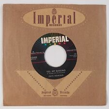 FATS DOMINO: Yes My Darling '58 Imperial ROCK R&B 45 VG+ Super