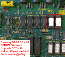 Ensoniq SQ-80 OS v1.8 EPROM Firmware Upgrade SET [with hidden Waves enabled!]