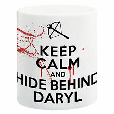 Keep Calm And Hide Behind Daryl Dixon - The Walking Dead Ceramic 11oz Mug