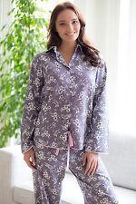 Ladies Woven Long Sleeve Grey Bird Print PYJAMA SET by Cyberjammies - SIZE 20