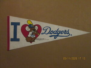 MLB Los Angeles Dodgers Vintage1984 I LOVE Dodgers Team Logo Baseball Pennant