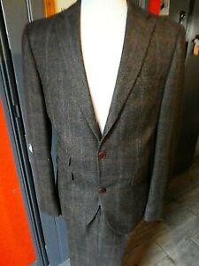 Super Looking Next 100% Wool Brown Herringbone Suit 38R Chest 30R Trouser
