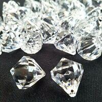 45 Pezzi Trasparente Grande Acrilico Diamante Forma Gemme Decorativo Da Perline