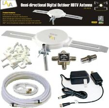 <span class=BOLD>LAVA HD-8008 360 DEGREES HDTV DIGITAL AMPLIFIED OUTDOOR TV ANTENNA HD VHF CABLE</span>