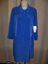 LAUNDRY BY SHELLI SEGAL DAZZLING BLUE GORGEOUS 3/4 SLEEVE DRESS 10 NWT $185 WOW