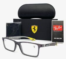 Ray Ban Ferrari  RX8901M F636  Transparent Gray Carbon Fiber 55mm Eyeglasses