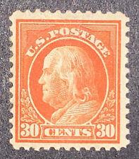 Travelstamps: 1917-1919 US Stamps Scott# 516 30c Franklin Orange Red Mint OGH