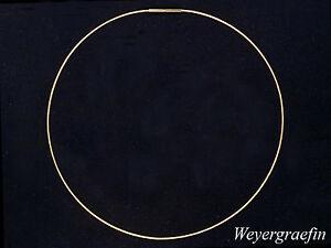 COLLIER-REIF Seil 750 Gelbgold Halsreif für Anhänger & Perlen 45cm, Stärke 1,1mm