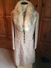 Fabulous Escada Coat With Fox Fur Removable Collar.  38.  Immaculate Condition.