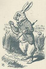 Alice au pays des merveilles John Tenniel Lewis Carroll Lapin Blanc Costume Montre parapluie