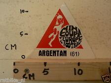 STICKER,DECAL ARGENTAN MINI COUPE D'EUROPE DE FOOTBALL 61 ??