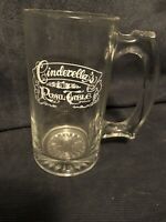 Disney World Souvenir Cinderella's Royal Table Glass Mug Cup Stein