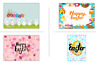 Happy Easter Large Rectangle Stickers Letterbox Party Bag Sweet Box Sweet Cone