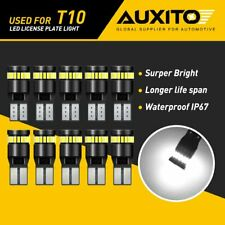 10x AUXITO T10 194 168 LED License Plate Light Bulbs 6000K Canbus Super Bright