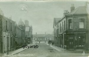 King Street, Clitheroe RP railway station in distance, Robinson, Tailors