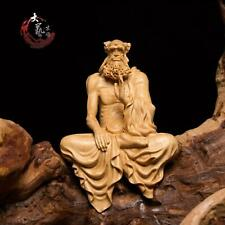 Patriarch Bodhidharma Buddha Statue Boxwood Carving Wood Sculpture Ornament