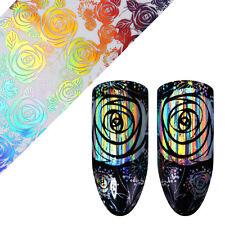 Rose Laser Holographisch Starry Nagel Folie Maniküre Nail Art Aufkleber Tipps