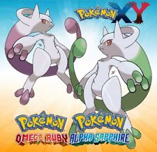 * Shiny Mewtwo Y Mega * ORAS Sun Moon X Y * Pokemon * IV EV Maxed *