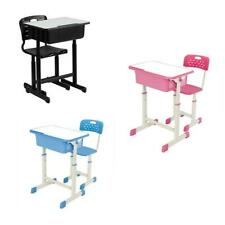 New 3 Colors Student Desk and Chair Set Adjustable Child Study Home Furniture