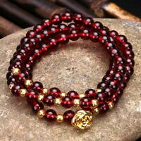 Natural Gemstone Gold Rose Bracelet Chakra Gems Stones Healing Unisex Jewellery
