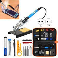 Soldering Iron Kit Electronics, 60W Adjustable Temperature Welding Tool Stock US