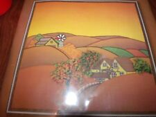 """Vintage Sunset QUILTED AUTUMN SCENE Sewing/quilting Kit 16"""" x 16"""""""