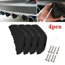 Universal Black 4PCS Rear Bumper Diffuser Fin Spoiler Lip Wing Splitter Matt NEW