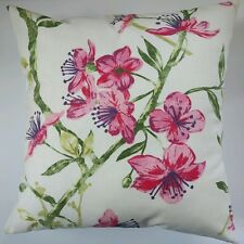 """Cushion Cover in Next Genevieve Ruby Pink Flowers Floral 16"""" Matches Curtains"""
