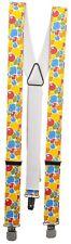 (06735) Bretelles pour Pantalons Partie Carnaval Fête Multicolore - Ballons A