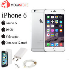 APPLE IPHONE 6 16GB BIANCO SILVER GRADO A + ACCESSORI + GARANZIA 12 MESI