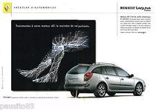 PUBLICITE ADVERTISING 065  2001  RENAULT  LAGUNA  ESTATE DCI ( 2p)