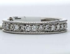 New diamond eternity band ring 14K white gold FG VS round brilliant .95CT sz 5.5