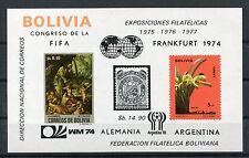 Bolivien Block 44 postfrisch / Fußball - Orchideen .......................1/1647