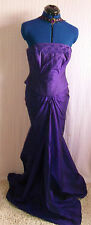 Stunning Hollywood Glam/Burlesque Regal purple fine Silk 2 piece wedding/eve