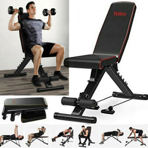 Foldable Dumbbell Bench Weight Training Adjustable Incline/Decline Fitness Gym