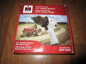 """New IH International Harvester - 1/2"""" Air Impact Wrench - 600 ft/lbs - IHIW12600"""