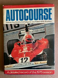 AUTOCOURSE 1975-76 Edition Formula 1 Sports Cars Rallies Detailed Record of Year