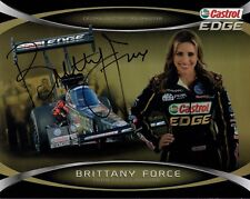 Brittany Force Hand Signed 8x10 Color Photo+Coa Gorgeous Nhra Driver
