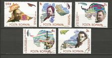 1986 explorateurs polaires Roumanie 5 timbres anciens oblitérés /T4335
