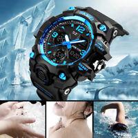 New SKMEI Watch Sport Quartz Wrist Men Analog Digital ABS+PU Waterproof Military