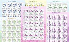 MOLDOVA 2016 Wild Flowers Set of 6 Full Sheets  MNH