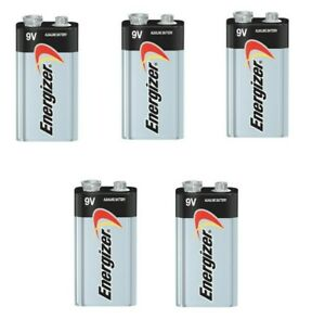 Energizer Max 9V 9 Volt 522 Alkaline Batteries Bulk 5 pk (new)EXP.12/2025