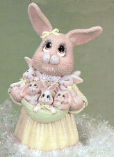 Ceramic Bisque Dona's Mama Bunny Rabbit w/ Babies U-Paint  Ready to Paint Easter