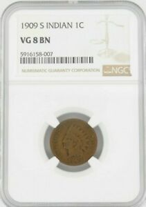 1909 S 1C Indian Cent, NGC VG8BN
