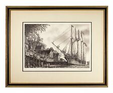 """The William White"" Clipper Ship Etching by Alan Jay Gaines Gorgeous Condition!"