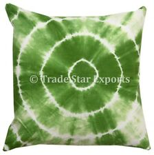 """Indian Tie Dye Square Cushion Cover 20"""" Ethnic Handmade Throw Pillow Case Cover"""