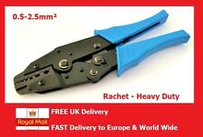 Ratchet Crimp Tool for Bootlace Ferrule, Cord End & Insulated Red/Blue Terminals
