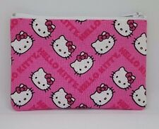 Pink Hello Kitty Chevron Fabric Handmade Zippy Coin Money Purse Storage Pouch