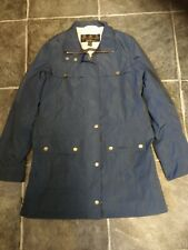 Ladies Barbour Jacket Coat size 10 Blue Waterproof and Breathable