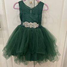 Trish Scully Emerald Green Francesca Holiday Party Dress Christmas Sz 3 Tulle
